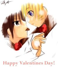 happy valentines day anime