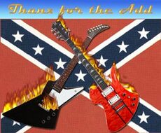 thanks for the add rebel flag two guitars on fire
