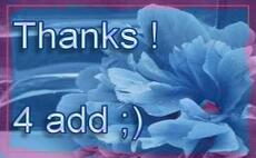 thanks 4 add flowers