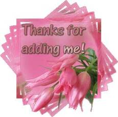 thanks for adding me pink flowers