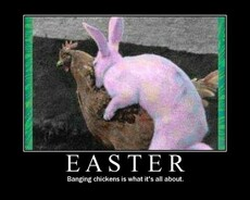 easter banging chickens is what it's all about
