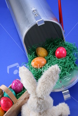 easter bunny hides eggs in mailbox