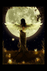 angel under moonlight