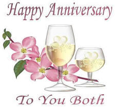 happy anniversary to you both