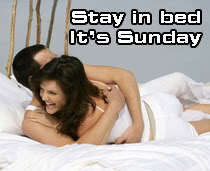stay in bed its sunday