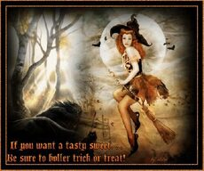 if you want a tasty sweet be sure to holler trick or treat