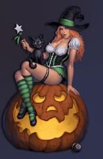 sexy halloween witch