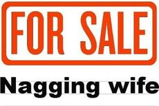 for sale nagging wife